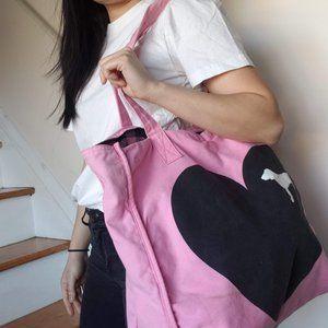 Victoria's Secret Pink Reversible cotton tote bag